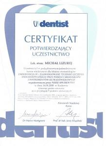 certyfikat - dentysta